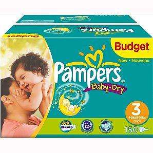 Pampers baby dry budget box  size 3 & 5 2 boxes for £20! @ Asda less than 7p a nappy!