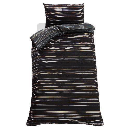 Tesco Direct - Helsinki Stripe Print Duvet Set Single, Black £2.28