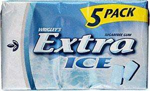 Wrigleys Extra ICE Chewing Gum - 5 Pack £1 @ Poundland