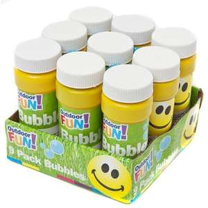 Outdoor Fun 9 Pack Bubbles £1 @ Poundland