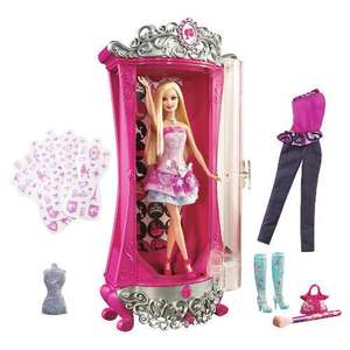 Barbie Fashion Fairytale Glitterizer Wardrobe and Barbie Doll Set £12.49 @ Tesco Direct rrp 49.97.