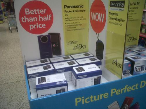 Panasonic Pocket HD camcorder tesco online instore £49.97