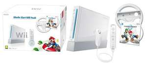 White Nintendo Wii Console with Mario Kart (Wii) and steering wheel £99.99 @ Game From 20/05/2011