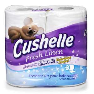 Cushelle Fresh Linen Scented Toilet roll 4pk £1.50 instore/Online @ wilkinsons  ...£1 with coupon