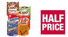 Nestlé Toffee Crisp Clusters/Aero milk/ Peppermint bubbles/ Milky Bar giant buttons/Smarties/ Kit Kat pop choc sharing bags All 97p each at The Co-op