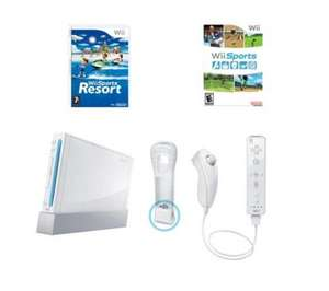 White or Black NINTENDO Wii Game Console + Wii Sports + Wii Sports Resort and Motion Plus Controller - £92.00 @ Currys (PCWorld / Dixons)
