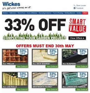 Up To 33% off Garden Materials this Bank Holiday weekend at Wickes