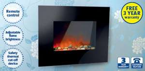 Wall Mounted Pebble Fire 1800W - reduced to £49.99 @ Aldi