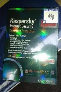 Kaspersky Internet Security  -  Reduced to 49p  -  The Works