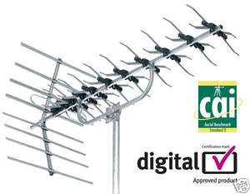 SLX 48 Element High Gain Digital TV Aerial Reduced to £14.98 @ B+Q
