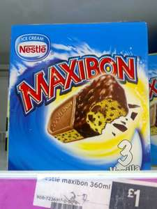 Nestle Maxibon Ice Cream pack of 3 for £1 in-store at Sainsbury's
