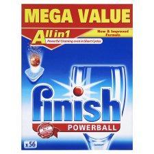 Finish Allin 1 Dishwasher tablet Regular or Lemon 56'S was £12.97 now £6 @ tesco instore and online