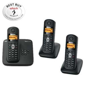 Siemens Gigaset AL185 Cordless Triple DECT Telephone + Answering Machine was £119.99 now £37.99 at Tesco Direct