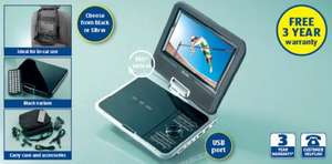7'' Portable DVD Player  now only £39.99 (was £49.99)  @ ALDI