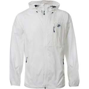 EXPIRED As lack of sizes now.  Men's Nike Packaway Windrunner - White Jacket only £17.99 @ In The Label Outlet. rrp £65.00