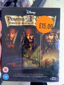 Pirates of the Caribbean Trilogy [Blu-ray] £15.00 @ Sainsburys in store