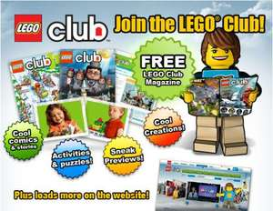 Free Max minifigure & free lego club magazine at argos online