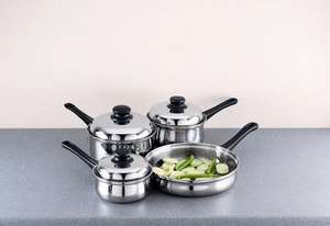COOKWORKS 4 PIECE STAINLESS STEEL PAN SET NEW - ARGOS £8.98 @ Argos eBay