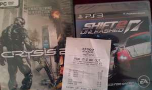 Crysis 2 (PC) for £2.10 @Tesco instore mis-price of course