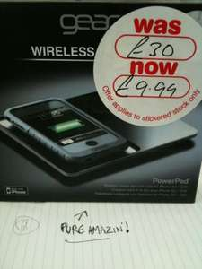 GEAR4 wireless charging plate for Iphone 3G/S £10 @ HMV