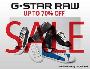 G-STAR RAW shoes sale. up to -70% off. @ MandMdirect