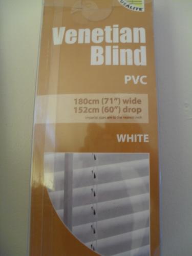 """PVC Venetian Blind 180cm x 152cm (71"""" wide x 60"""" drop) various colours £12.99 @ Buyology"""