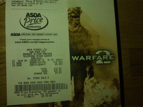 COD: Modern Warfare 2 (PC)- £10 @ ASDA (Instore)