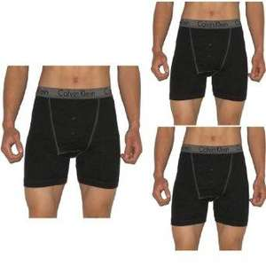 3 PACK IN ORIGINAL BOX - Mens CALVIN KLEIN Fine Rib Button Fly Boxer Shorts / Briefs: Choose From Many Color Sets  £29.99 @ Amazon (Via The Big Clothing Sale)