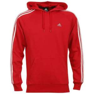 Adidas Essentials 3 Stripe Hooded Top - Red £14.99 @ Zavvi. Delivered. rrp £45.00.