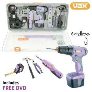 Vax Cordless Drill & Tool Set & Carry Case - 70% Saving £18.68 @ Dealtastic