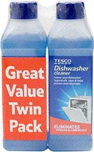 Tesco Dishwasher Cleaner Two Bottle pack (2x250ml bottles) down to £2