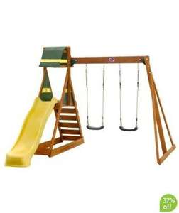 Mothercare - Plum Siamang Wooden Play Centre swing & slide ... now £199.99 with codes