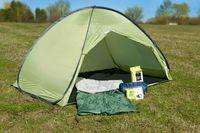 2 Man Tent /w 2x Sleeping bags, solar shower & LED lamp [£29.99][EBUYER]