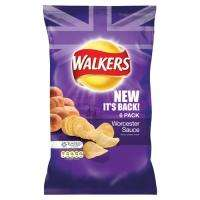 Walkers Crisps Worcester Sauce & Walkers Lights Cheese & Onion 6pk - 69p Instore @ Home Bargains