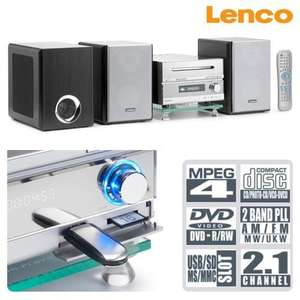 Lenco 2.1 DVD/SD/MS/MMC card slot and USB Home Cinema System £35.16  (with code) & £2.99 P&P RRP £139 @Dealtastic