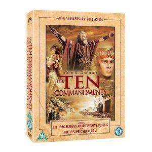The Ten Commandments: 50th Anniversary Edition (1923 & 1956 versions) (3 Discs) £4.99 @ Play