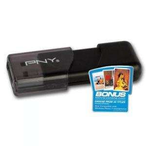 PNY 16GB Attache Capless USB Flash Drive - Black + Bonus Movie - £12.82 (with code) @ MyMemory