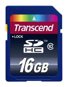 16GB SDHC Trancend Card Class 10 £10.56 + £4.99 shipping  @ Amazon sold by Base.