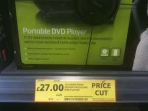 Technika Portable DVD PLayer 7inch TFT HDMI Upscaling Instore at Tesco £27