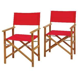 2 DIRECTORS CHAIRS FSC, 2 PACK.was £50.00/ £25.00 now £20.00  @ Tesco Direct. Available in 4 Colours.