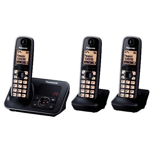 PANASONIC KX-TG6623EB Digital Cordless Phones (Triple) £47.99 with Code from COMET