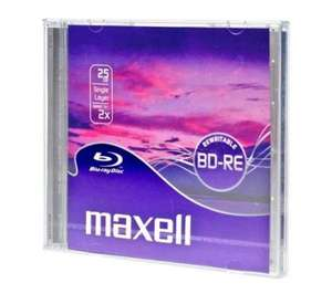 MAXELL BLU RAY REWRITABLE DISC BD-RE 197p at PC World in store Clearance