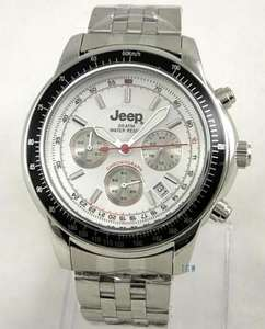 MENS NEW JEEP 20ATM DIVERS CHRONOGRAPH S/STEEL WATCH LESS THAN HALF PRICE! (RRP £99.99). GENUINE, HIGH SPEC @ THEGIFTWATCH eBay Outlet
