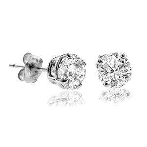 1/4 Ct Natural Diamond Stud Earrings 14k White Gold - Amazon was £688 now £99