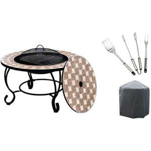 La Hacienda Napoli Firepit BBQ Table inc Free Cover and Utensils £103.94 inc Del @ Bbqbarbecues.co.uk