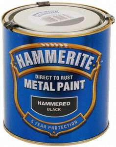 Hammerite Direct to Rust Paint 1/2 Price @ Halfords - £5.99 500ml / £9.99 1ltr