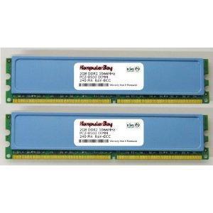 Komputerbay 4GB 2x 2GB DDR2 PC2 8500 1066Mhz 240 Pin DIMM 4 GB KIT - £35 Fulfilled by Amazon