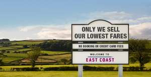 train FIRST CLASS london-scotland £25 incl meals and drinks @ East Coast Main Line