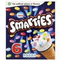 6 x Smarties Cornetto Type Cones rollback to £1 at Asda, Instore & Online