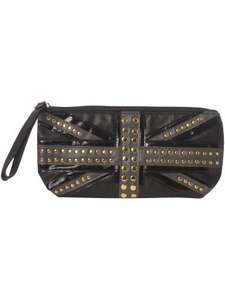Therapy Small Union Jack studded clutch bag was £19 now £4.50 with free delivery to local store @ House of Fraser